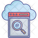 Cloud Computing Cloud Exploration Cloud Searching Icon