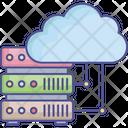 Cloud Computing Cloud Database Cloud Information Icon