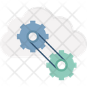 Cloud Computing Cloud Data Configuration Cloud Network Setting Icon
