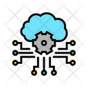 Cloud Storaging Working Icon