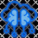 Cloud Brain Technology Icon