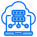 Computer Hosting Cloud Icon