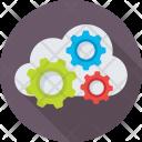 Cloud Computing Cogs Icon