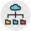 Cloud Computing Folders Sharing Icon