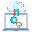 Cloud Computing Data Transfer Cloud Technology Icon