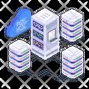 Cloud Servers Cloud Computing Cloud Databases Icon