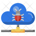 Cloud Computing Bug Internet Icon