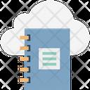Cloud Computing Dairy Diary Icon