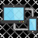 Cloud Computing Pc To Cloud Data Exchange Icon