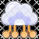 Cloud Computing Cloud Data Hosting Icon