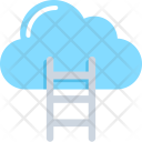 Cloud Ladder Computing Icon