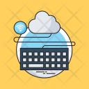 Cloud Computing Keyboard Icon