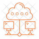 Cloud Connect Computing Icon