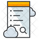Cloud Computing Research Icon