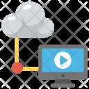 Cloud Computing Multimedia Icon