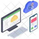 Cloud Computing Network Cloud Data Cloud Hosting Icon