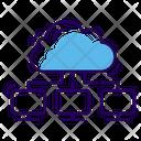 Cloud Computing Network Cloud Communication Network Cloud Technology Icon