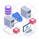Computing Technology Cloud Computing Network Cloud Hosting Network Icon