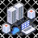 Blockchain Network Ltc Network Cloud Services Icon