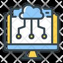 Web Cloud Server Icon