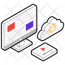 Cloud Configuration Data Configuration Cloud Computing Icon
