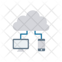 Cloud connected devices Icon