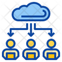 File Transfer Work At Home Office Database Icon