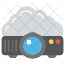 Cloud Connected Projector Digital Icon