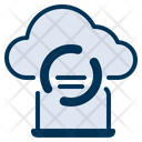 Network Connecting Cloud Server Icon