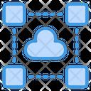 Cloud Data Cloud Connection Cloud Network Icon