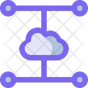 Cloud Network System Icon