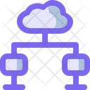 Cloud Network Pair Icon