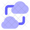 Cloud Connection Cloud To Cloud Connection Cloud Sharing Icon