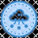 Cloud Server Communication Icon