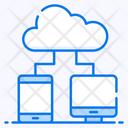Cloud Connection Cloud Network Cloud Hosting Icon