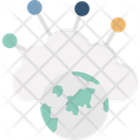 Cloud Connection Connection Global Association Icon