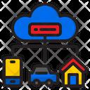 Cloud Connection Cloud Car Icon