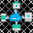 Cloud Connection Cloud Data Icon