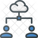 Cloud Action Document Icon