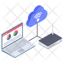 Cloud Connection Devices Icon