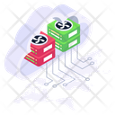 Cloud Storage Cloud Databases Cloud Servers Icon