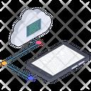 Cloud Connectivity Cloud Data Transfer Cloud Technology Icon