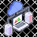 Laptop Cloud Cloud Content Cloud Technology Icon