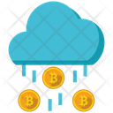 Bitcoin Rain Money Icon