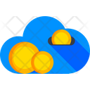 Cloud Cost Advertisement Payment Cloud Earnings Icon