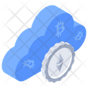 Cloud Cryptocurrency Cloud Bitcoin Digital Money Icon