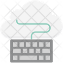 Cloud Data Keyboard Cloud Monitoring Icon