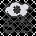 Cloud Data Cloud Hosting Cloud Computing Icon