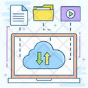 Cloud Data Cloud Upload Cloud Download Icon