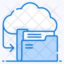 Cloud Data Cloud Document Cloud Folder Icon